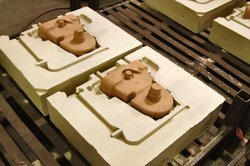 Photo of two nobake molds created by Seneca Foundry.