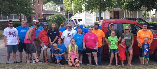 Photo of the Seneca Foundry Team and family members at the 2017 Iowa State Fair.