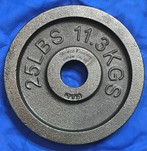 More about the 'Cast Iron Olympic Weight Plate - 25 lbs' product